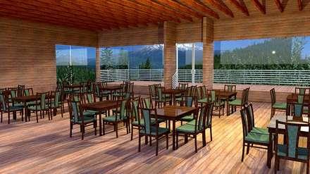 Proyecto Lodge Manquemapu : Hoteles de estilo  por Aedo Arquitectos & Design