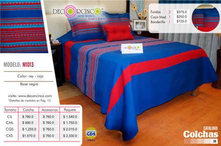 Khách sạn by DECORCINCO DISEÑO ARTESANAL TEXTIL; CORTINAS, COLCHAS, COJINES, MANTELES Y COMPLEMENTOS