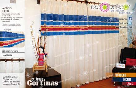 Hotels by DECORCINCO DISEÑO ARTESANAL TEXTIL; CORTINAS, COLCHAS, COJINES, MANTELES Y COMPLEMENTOS