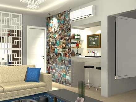 Ruang Penyimpanan Wine by Camila Zagonel Interiores