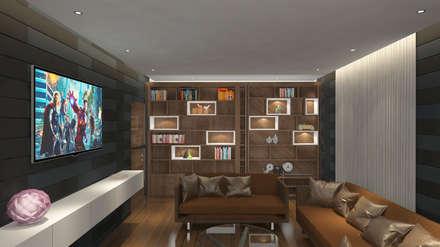 moderner Multimedia-Raum von Rhythm  And Emphasis Design Studio