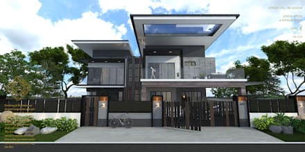 Modern home design ideas, inspiration & pictures | homify on five room house designs, fourplex house designs, 2 storey house designs, simple house designs, 6 bedroom house designs, manufactured house designs, cottage house designs, small house designs, one story house designs, single story modern house designs, palladian house designs, cape house plans designs, 2 level house designs, cabana house designs, hut house designs, new homes house designs, extreme house designs, craftsman house designs, cluster homes designs, kerala house designs,