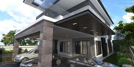 Bungalow Design -Horizon Hill Johor Bahru,Malaysia: modern Houses by Enrich Artlife & Interior Design Sdn Bhd