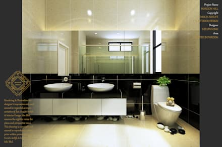 Bungalow Design -Horizon Hill Johor Bahru,Malaysia: modern Bathroom by Enrich Artlife & Interior Design Sdn Bhd