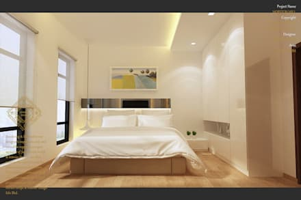 Bungalow Design -Horizon Hill Johor Bahru,Malaysia: modern Bedroom by Enrich Artlife & Interior Design Sdn Bhd