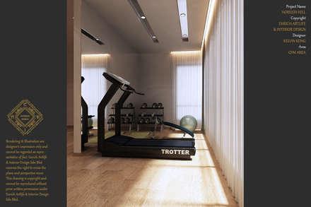 ห้องออกกำลังกาย by Enrich Artlife & Interior Design Sdn Bhd