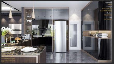 Dry Kitchen: Modern Kitchen By Enrich Artlife U0026 Interior Design Sdn Bhd