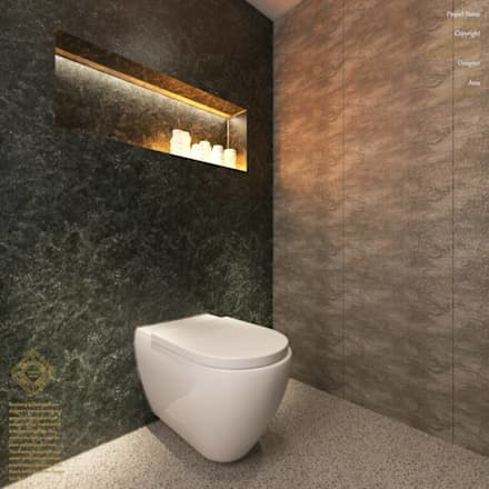 Semi-Detached Houses Design - Horizon Hill Johor,Malaysia: modern Bathroom by Enrich Artlife & Interior Design Sdn Bhd