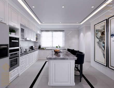 Semi-Detached Houses Design - Senibong Villa Johor,Malaysia: modern Kitchen by Enrich Artlife & Interior Design Sdn Bhd