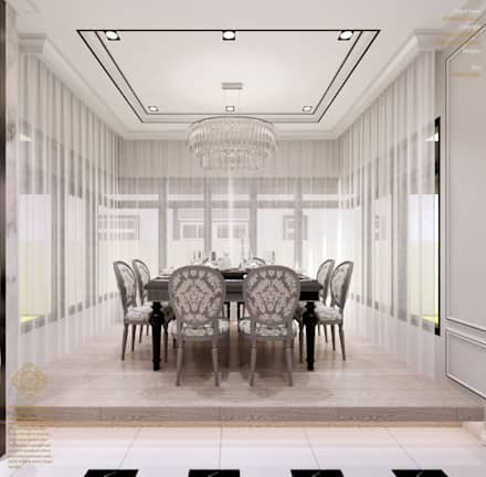 Semi-Detached Houses Design - Senibong Villa Johor,Malaysia: modern Dining room by Enrich Artlife & Interior Design Sdn Bhd
