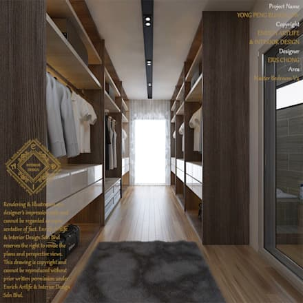 Bungalow Design -Yong Peng Johor Bahru,Malaysia: modern Bedroom by Enrich Artlife & Interior Design Sdn Bhd