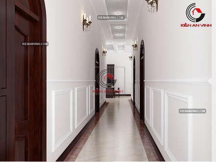 Puertas interiores de estilo  por Cong ty thiet ke nha biet thu dep Kien An Vinh