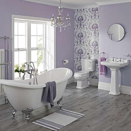 Milano Traditional Freestanding Bath Suite: classic Bathroom by BigBathroomShop