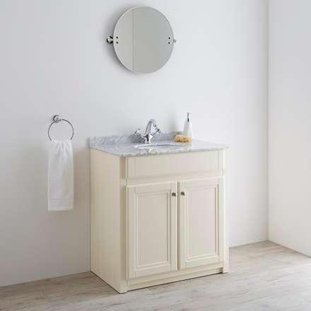 Milano Edgworth 800mm Ivory Vanity Unit: classic Bathroom by BigBathroomShop