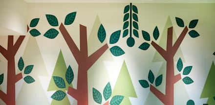 Woodland theme wall print: eclectic Nursery/kid's room by Tigerplay at Home