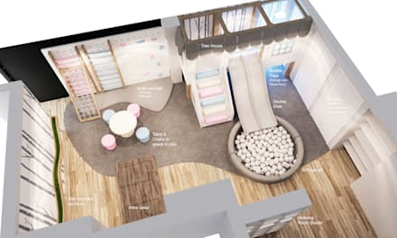 Floor plan for children's playroom : modern Nursery/kid's room by Tigerplay at Home