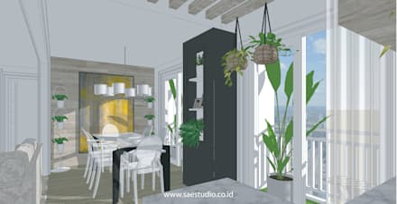 :  Ruang Makan by SAE Studio (PT. Shiva Ardhyanesha Estetika)