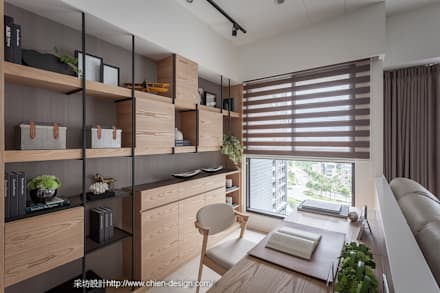 eclectic Study/office by 采坊設計