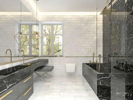 Vivienda Unifamilar - Estocolmo - Suecia: Baños de estilo escandinavo por MADBA design & architecture