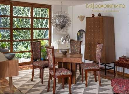 COMEDOR 1 - OCHOINFINITO : Comedores de estilo ecléctico por OCHOINFINITO Mobiliario - Interiorismo