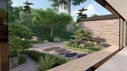 Casa De Campo Calima / Astratto : Jardines De Estilo Moderno Por Astratto