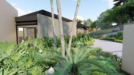 Casa de campo calima / astratto  : Jardines frontales de estilo  por astratto