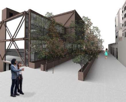 CREA Centro de recursos y exposiciones académicas:  de estilo  por MSA Arquitectos