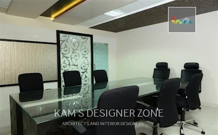 Interior design of Dhawade Office:  Conference Centres by KAM'S DESIGNER ZONE