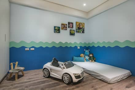 modern Nursery/kid's room by 知域設計