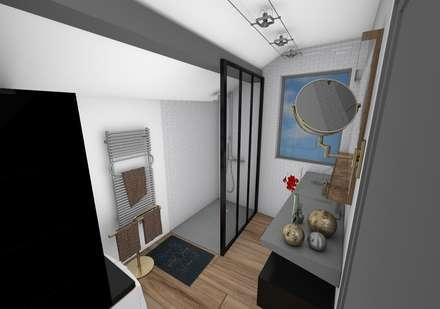 industrial Bathroom by Crhome Design