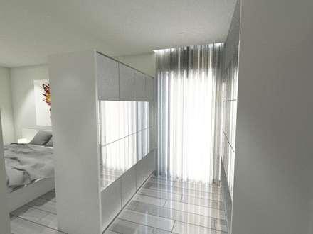 Moradia em LSF (AFM): Closets modernos por Idealiving
