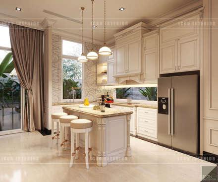 Thiết kế nội thất biệt thự phong cách tân cổ điển sang trọng:  Nhà bếp by ICON INTERIOR