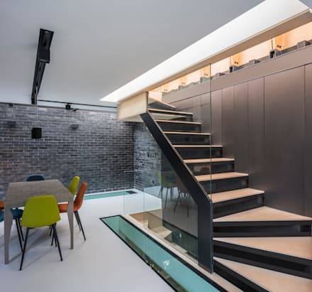 Darling House :  Stairs by The Crawford Partnership