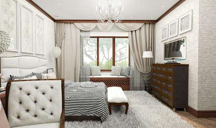 ห้องนอน by ELENA_KULIK_DESIGN