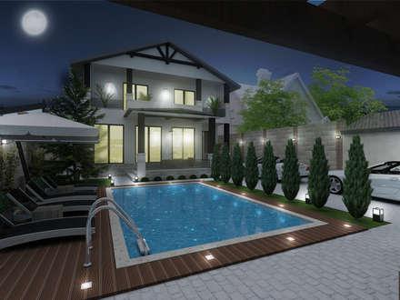 Ландшафтный дизайн дома в г. Одесса, Совиньон: Дома в . Автор – ELENA_KULIK_DESIGN