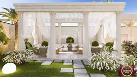 ​Landscape design and architecture from Katrina Antonovich: classic Garden by Luxury Antonovich Design