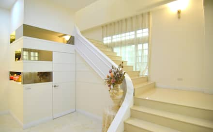 Stairs by 奇恩室內裝修設計工程有限公司