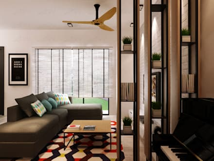 : minimalistic Living room by Jannovative Design