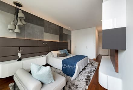DORMITORIO PRINCIPAL: Dormitorios de estilo  por DMS Arquitectas