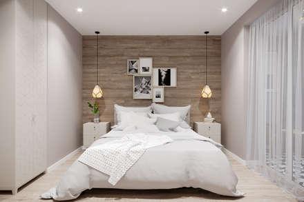 Phòng ngủ by Студия архитектуры и дизайна Дарьи Ельниковой