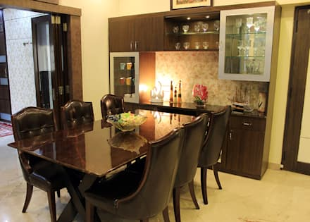 4 BHK Apartment of Mr Sachin Tulsyan Kolkata: modern Dining room by Cee Bee Design Studio