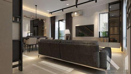 Living : modern Living room by Muse Studio
