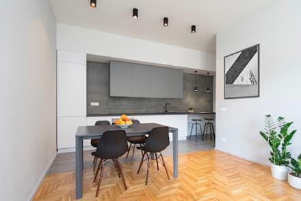 CASA M+P. FIRENZE: Cucina in stile in stile Moderno di OKS ARCHITETTI