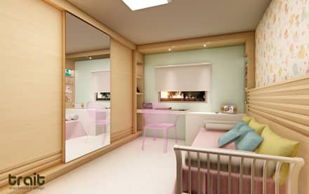 Habitaciones para niñas de estilo  por TRAIT ARQUITETURA E DESIGN