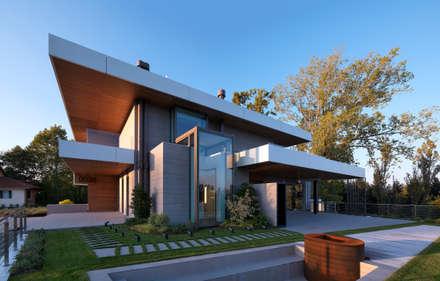 Villa Unifamiliare - Campagna di Udine: Casa unifamiliare in stile  di      Massimo Viti Architetto                                   studio Architectural Make-Up+