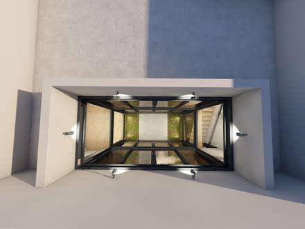 Casa das Amadas: Telhados planos  por Sousa Macedo, Arquitectos, Lda.