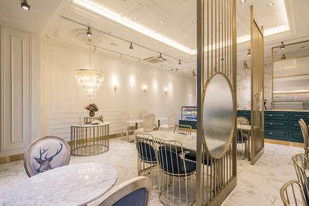 내부, 파티션: 디자인에이드의  바 & 카페