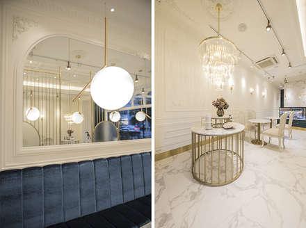 가구, 조명: 디자인에이드의  바 & 카페