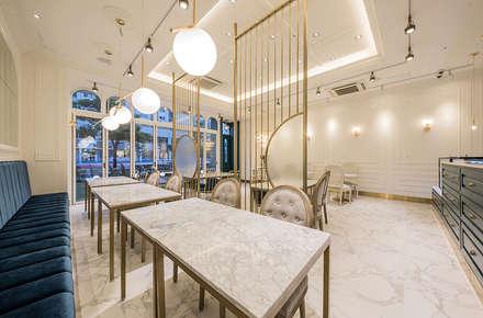가구,내부: 디자인에이드의  바 & 카페