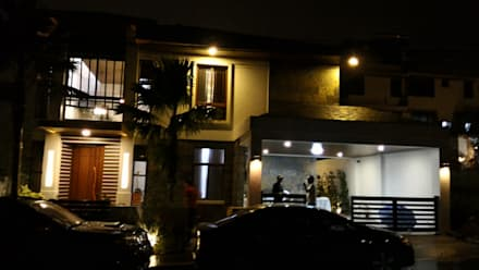 RS Residence at Night:  Single family home by Ar. Kristoffer D. Aquino